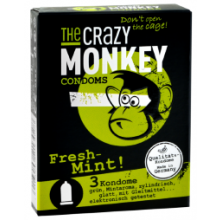 3 The Crazy Monkey Kondome - Fresh-Mint