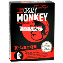 3 The Crazy Monkey Kondome - X-Large