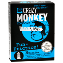 3 The Crazy Monkey Kondome - Fun + Friction