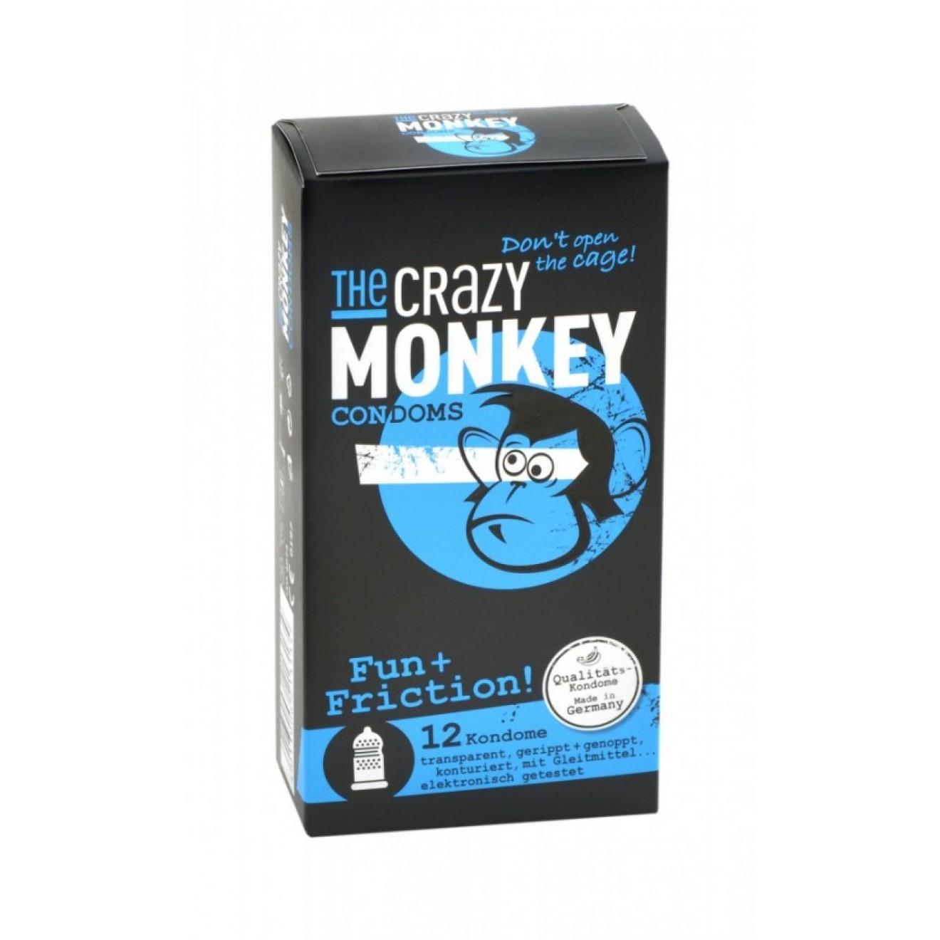 12 the crazy monkey kondome fun friction kondome gleitgel sexspielzeug u v m diskret. Black Bedroom Furniture Sets. Home Design Ideas
